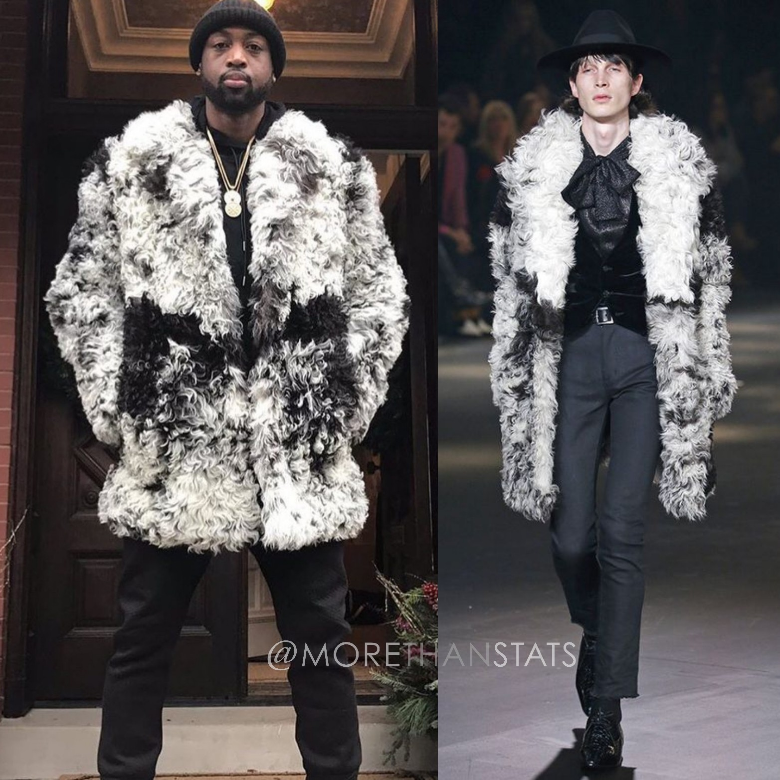 Dwyane Wade's Saint Laurent FW'16 Fur Mens Fashion Coat