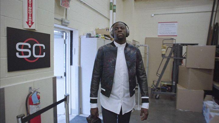 d059de5b5dd WATCH  Draymond Green Helps ESPN Sportscenter Anchors Step Up Their Fashion  Game