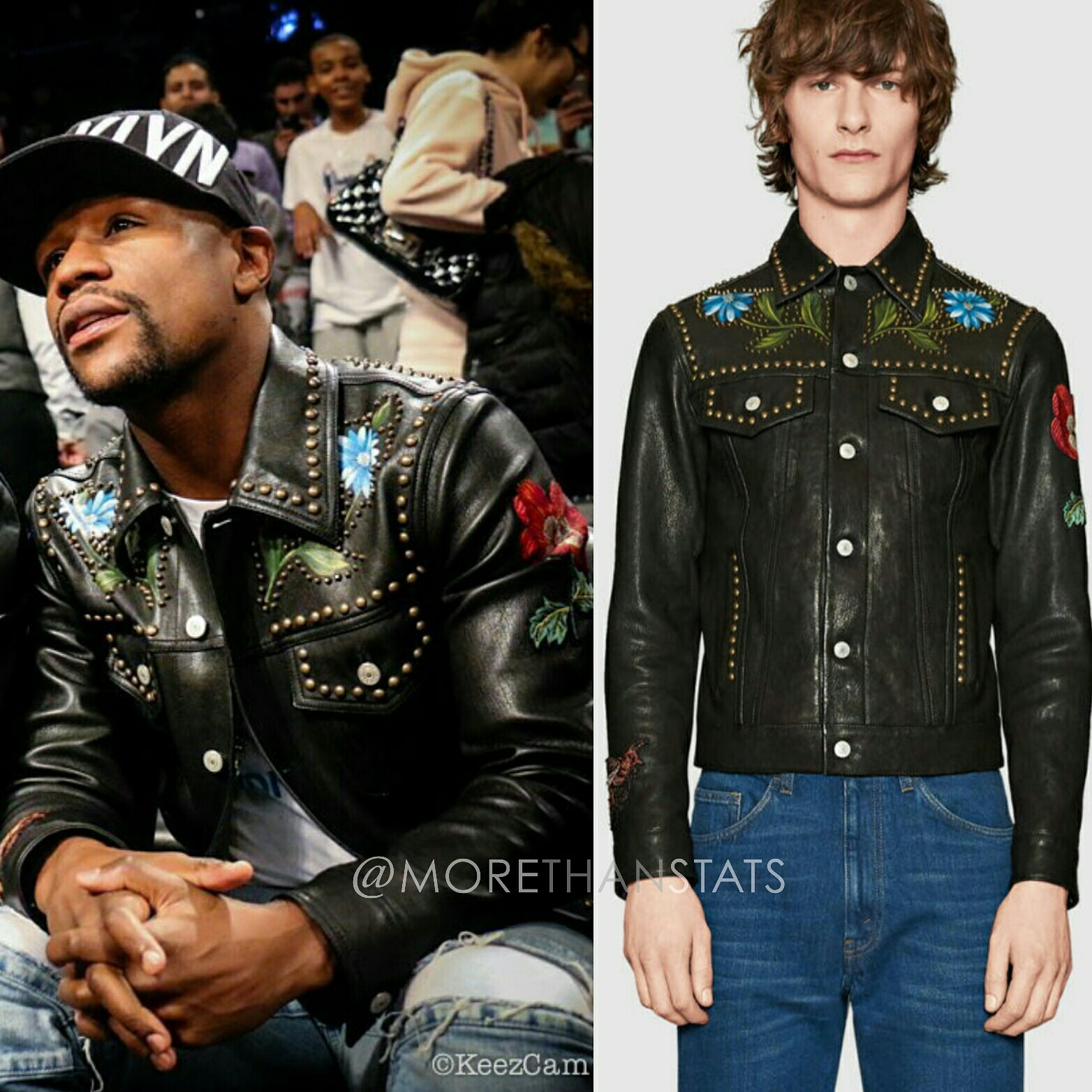 Floyd Mayweather's Gucci Painted Leather Mens Fashion Jacket