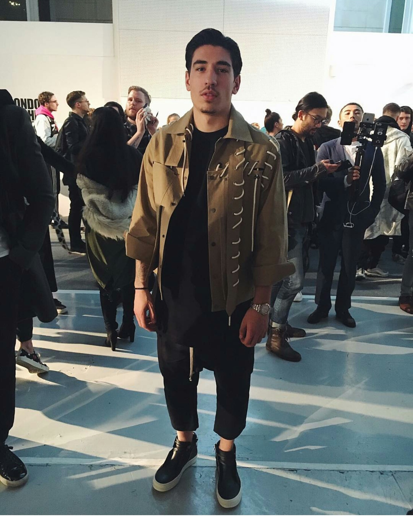 Arsenal FC Hector Bellerin Attends London Fashion Week Men's KTZ Runway Show