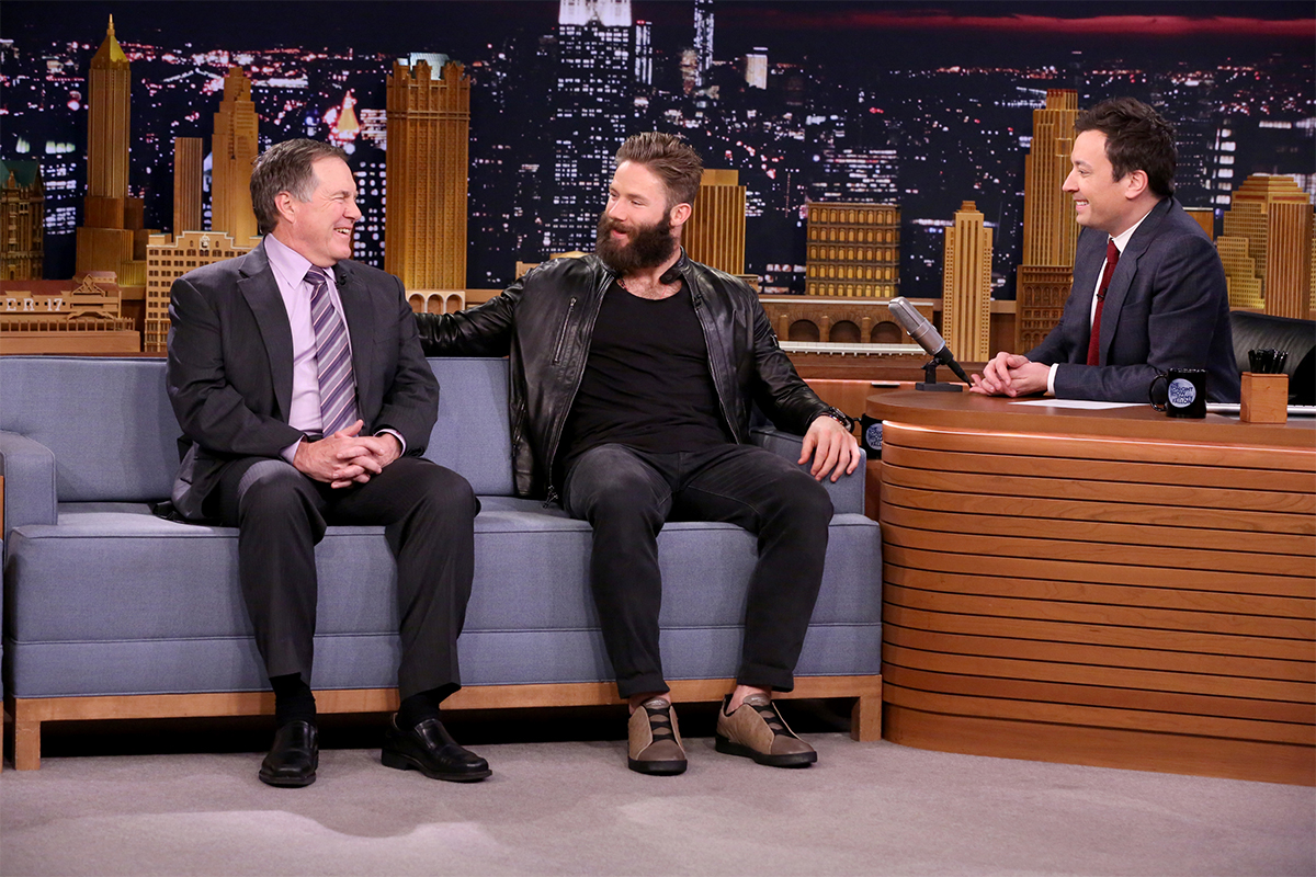 Super Bowl LI Champs Julian Edelman and Coach Bill Belichick Visited The Jimmy Fallon Show