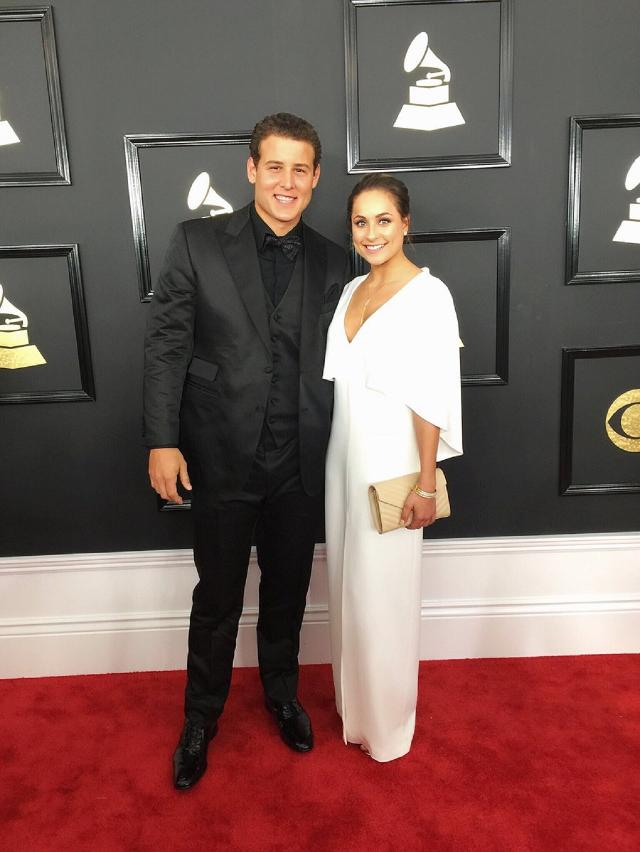 Anthony Rizzo Hit The 59th Grammys Red Carpet Last Night