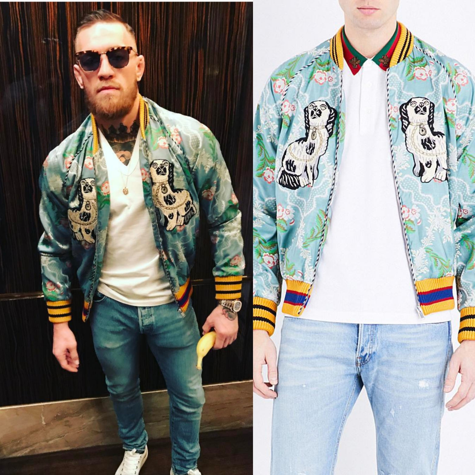 710fee65ff5 Conor Mcgregor s Instagram Gucci Floral Men s Fashion Jacket ...