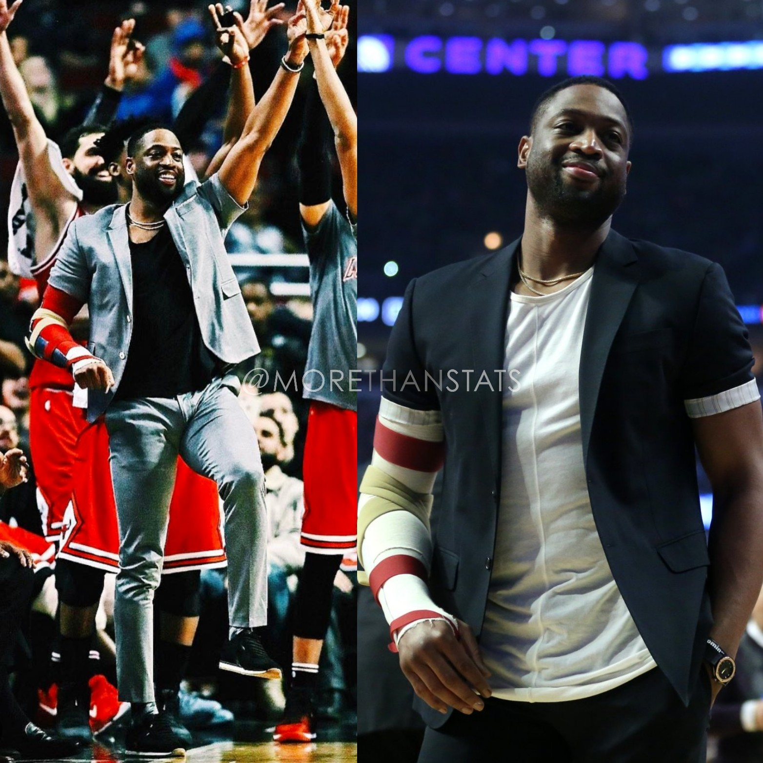 Dwyane Wade's Makes Spring Fashion Statement, Wears Short Sleeve Blazer Jacket Was