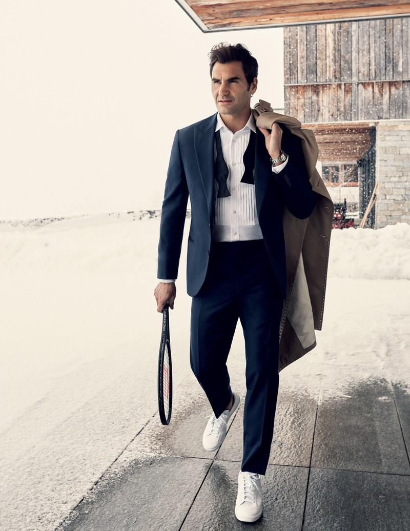 Roger Federer Covers Gq Magazine 39 S Style Bible
