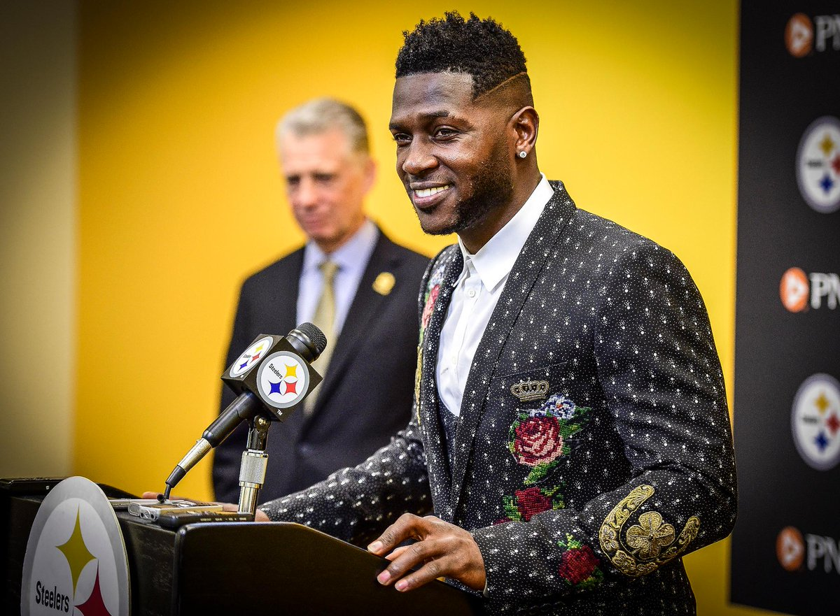 Suits for Men: Antonio Brown's New Contract Dolce & Gabbana FW'16 Embroidered Suit