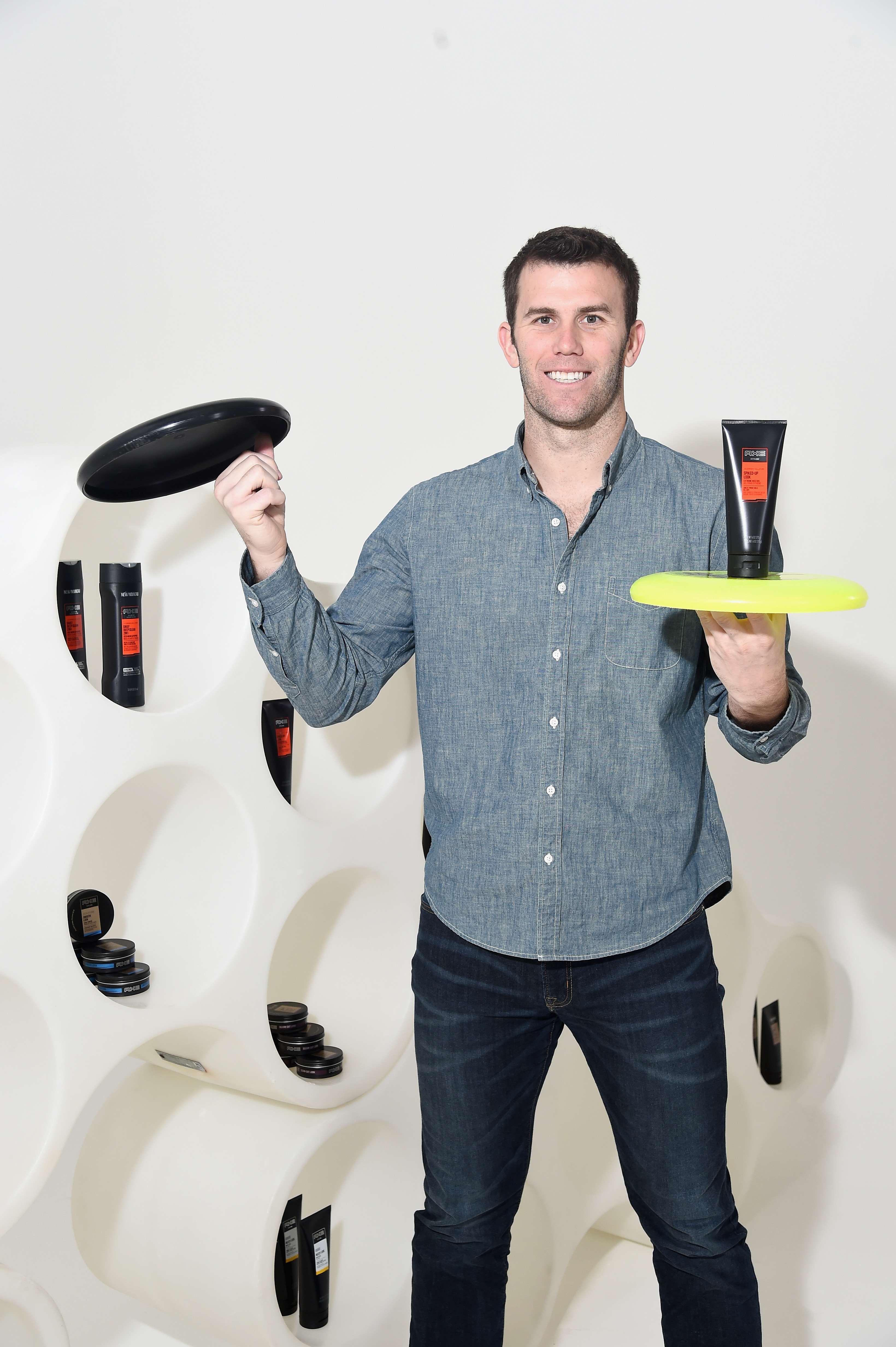 Brodie Smith Performs Frisbee Trick, Talks AXE Hair Creators, & Wanting To Collab With Tim Tebow