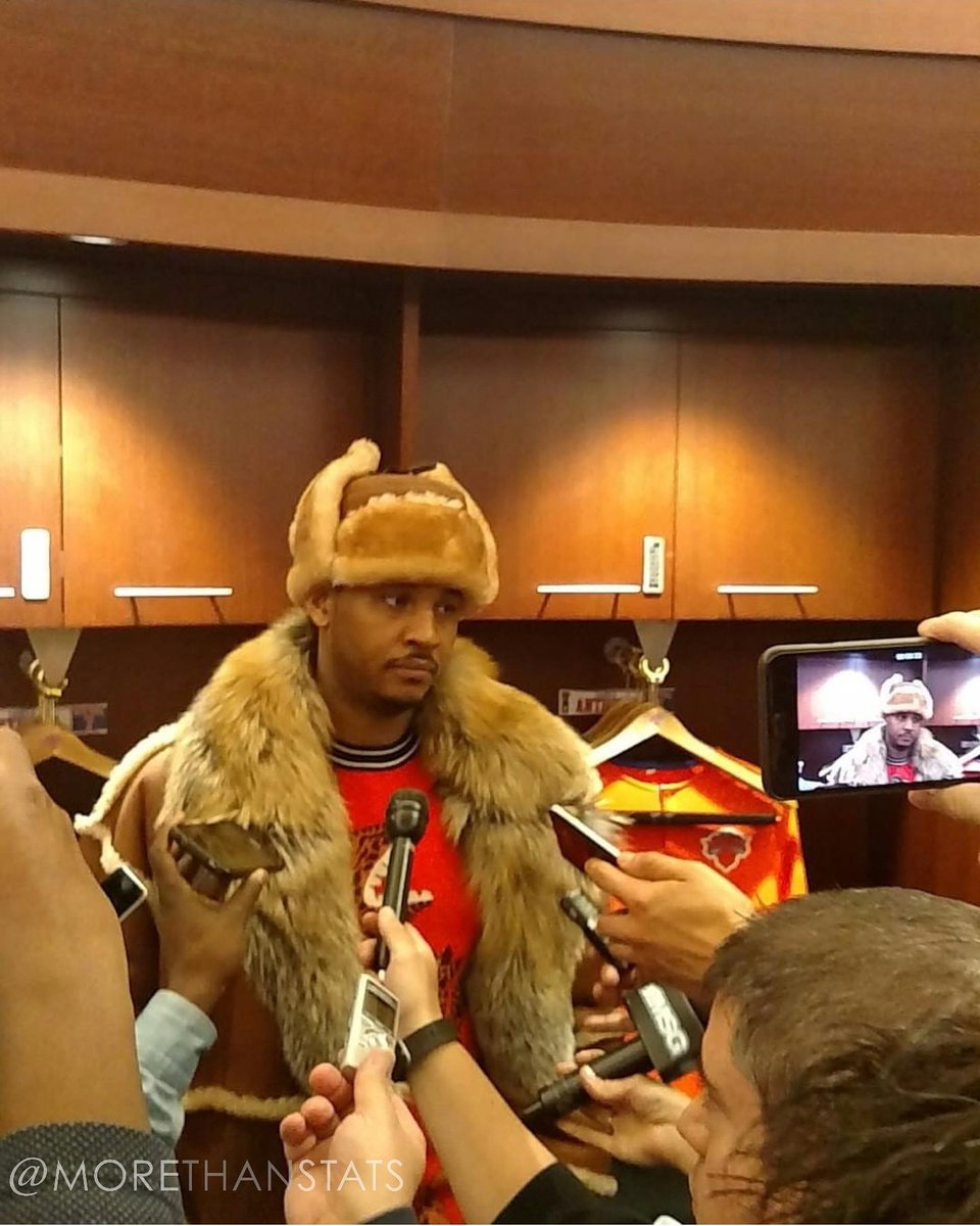 Carmelo Anthony's Fur Shearling Men's Fashion Coat Will Cost You $5,000