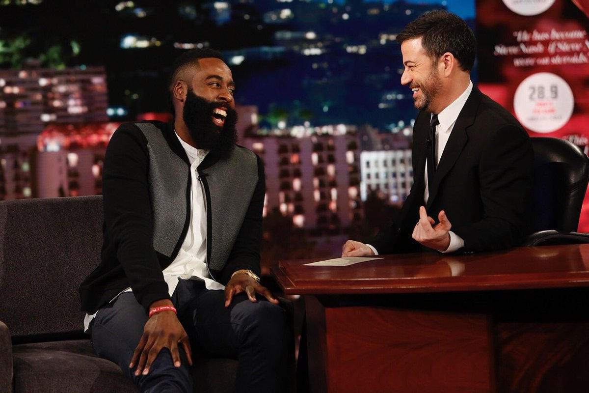 NBA Fashion: James Harden's Jimmy Kimmel Live Balenciaga Fleece Coated Jacket