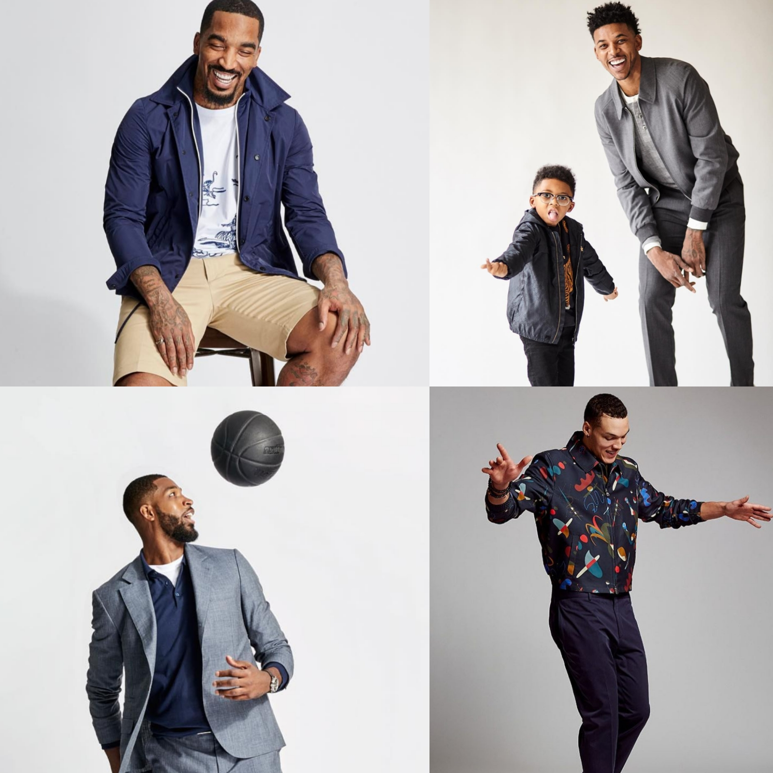 J.R. Smith, Nick Young, Tristan Thompson & Aaron Gordon Show Off Their #GQxNeimanMarcus approved style.