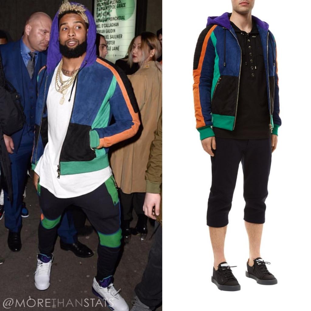 Odell Beckham Jr's Nicki Minaj Paris Fashion Week Balmain Sweatsuit