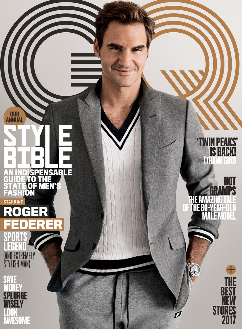 Roger Federer Covers GQ Magazine's STYLE BIBLE