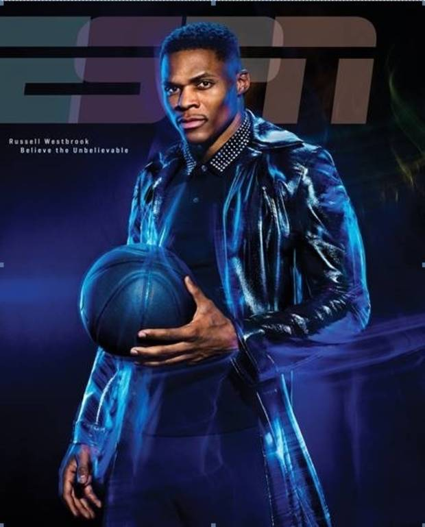 The Fashionable Russell Westbrook Covers ESPN The Magazine's Analytics Issue
