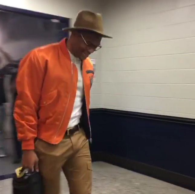 Russell Westbrook's Triple Double 41 Louis Vuitton S/S '15 Bomber Jacket