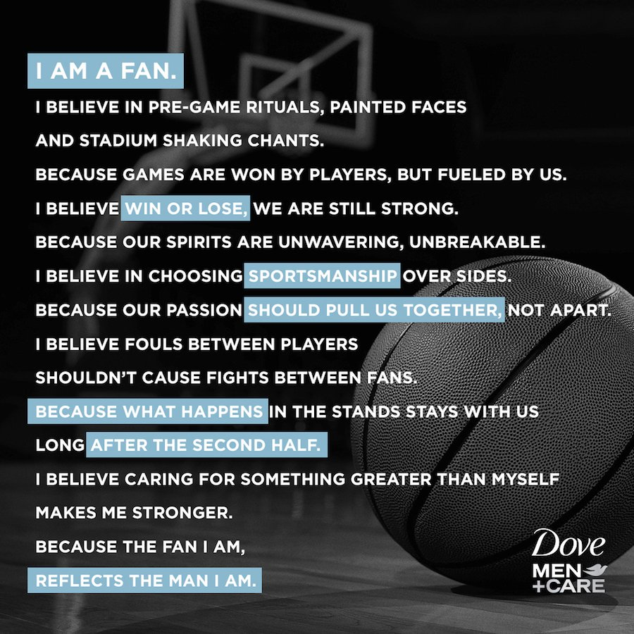 "Dove Men+Care Supports Unity With ""Real Strength Manifesto"" In Honor Of March Madness Tournament"