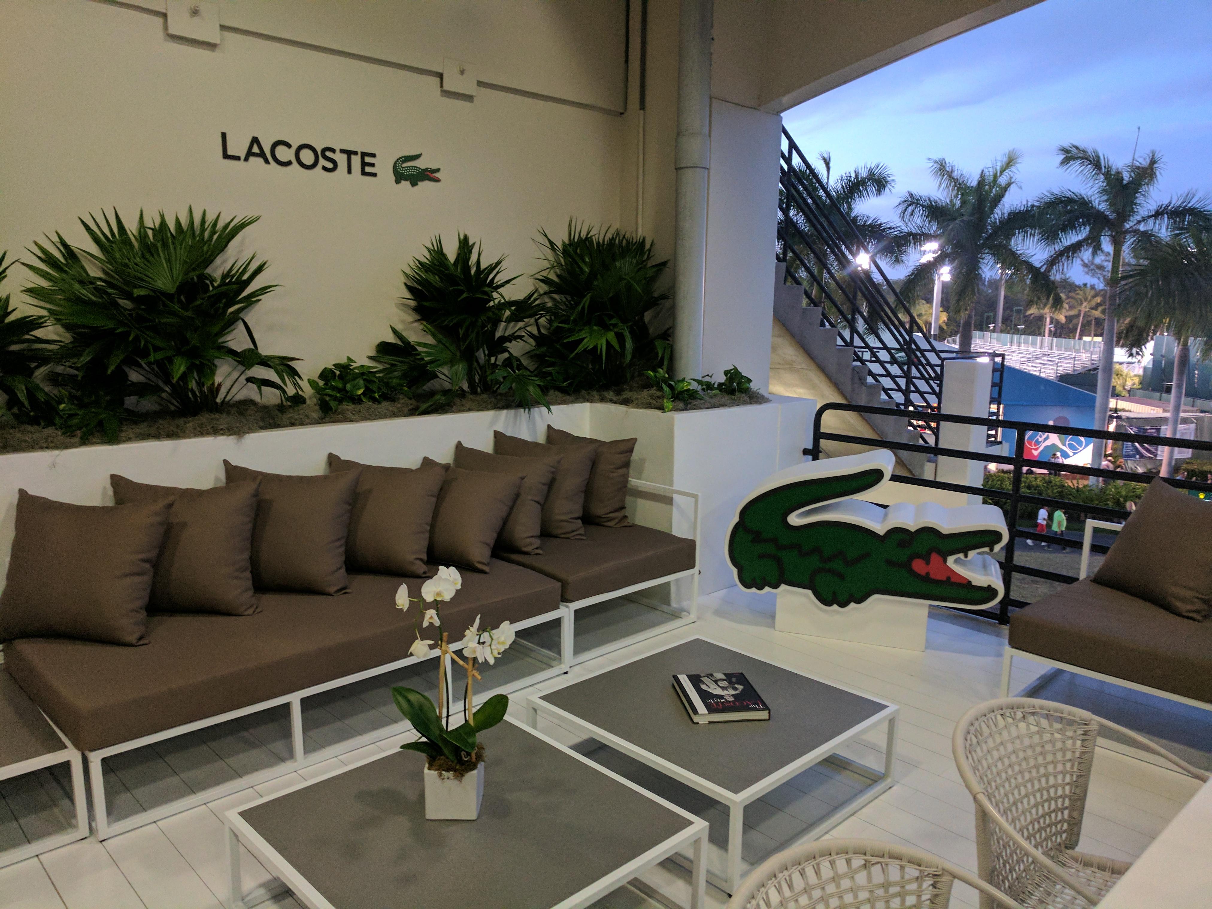 Miami Open 2017: Inside Lacoste VIP Suite