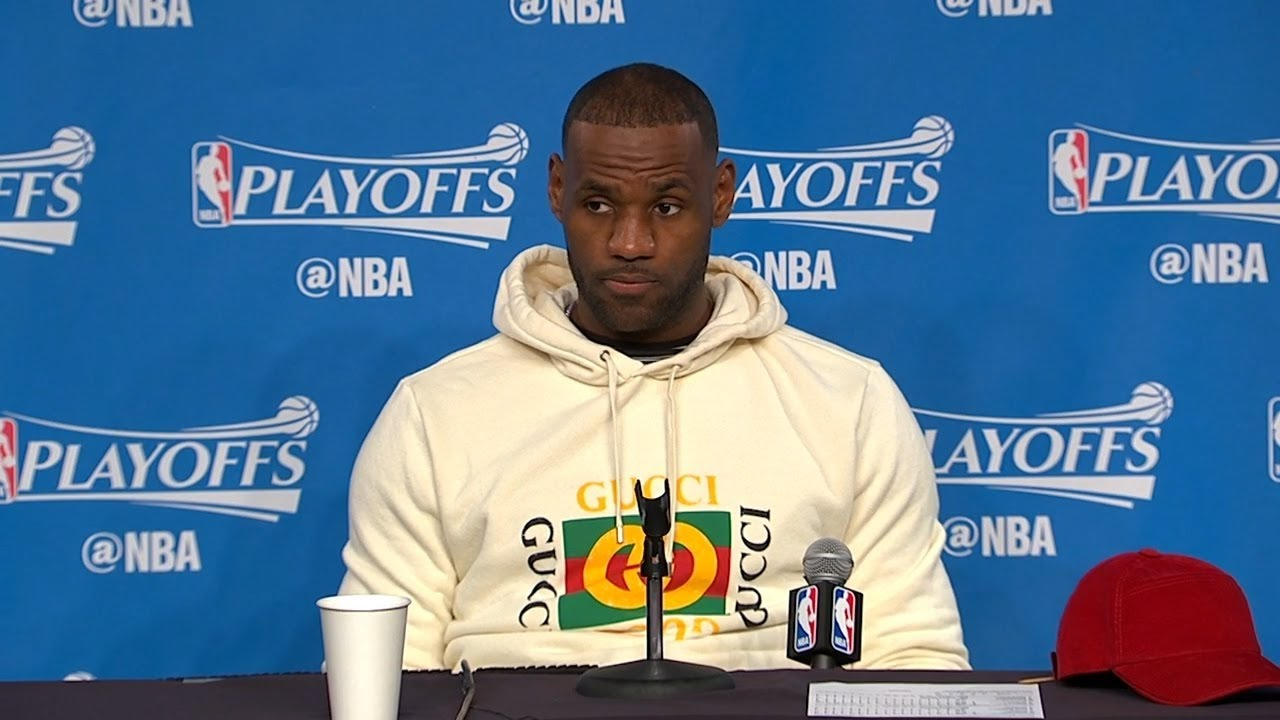 Lebron James' NBA Playoffs 2017 Gucci Off-White Felted Hoodie