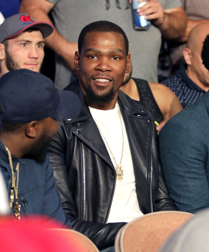 Andre Ward Vs Kovalev Fight: NBA Kevin Durant, Damian Lillard & Rudy Gay In Attendance
