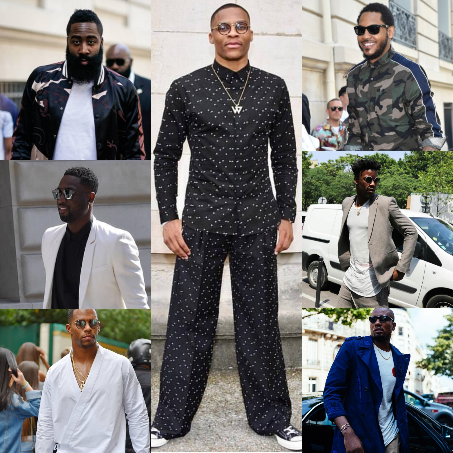 Russell Westbrook, Dwyane Wade, James Harden & More Attend Paris Fashion Week 2017