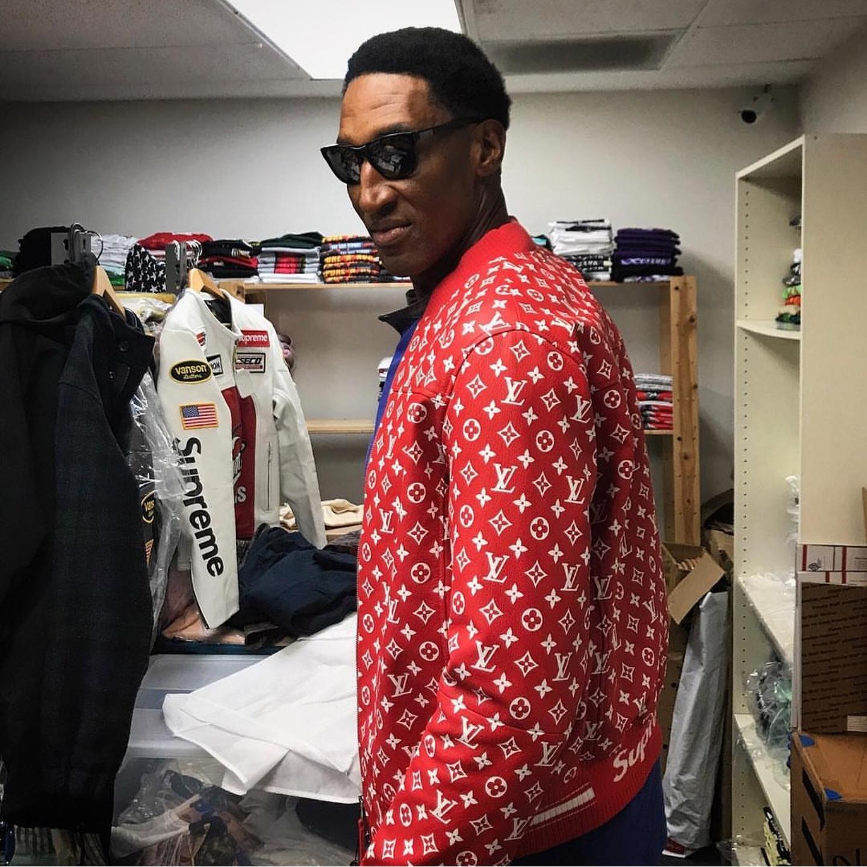 Scottie Pippen S Supreme X Louis Vuitton Jacket Amp Supreme