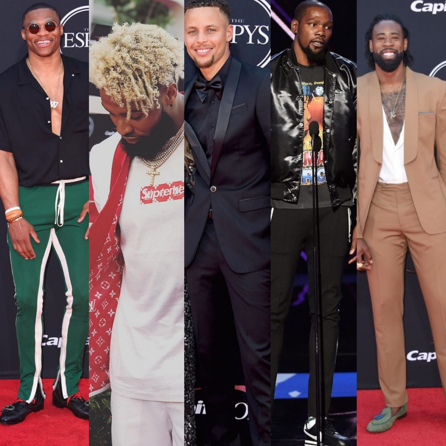 ESPYS 2017 STYLE: Stephen Curry, Russell Westbrook, Odell Beckham Jr.  & More