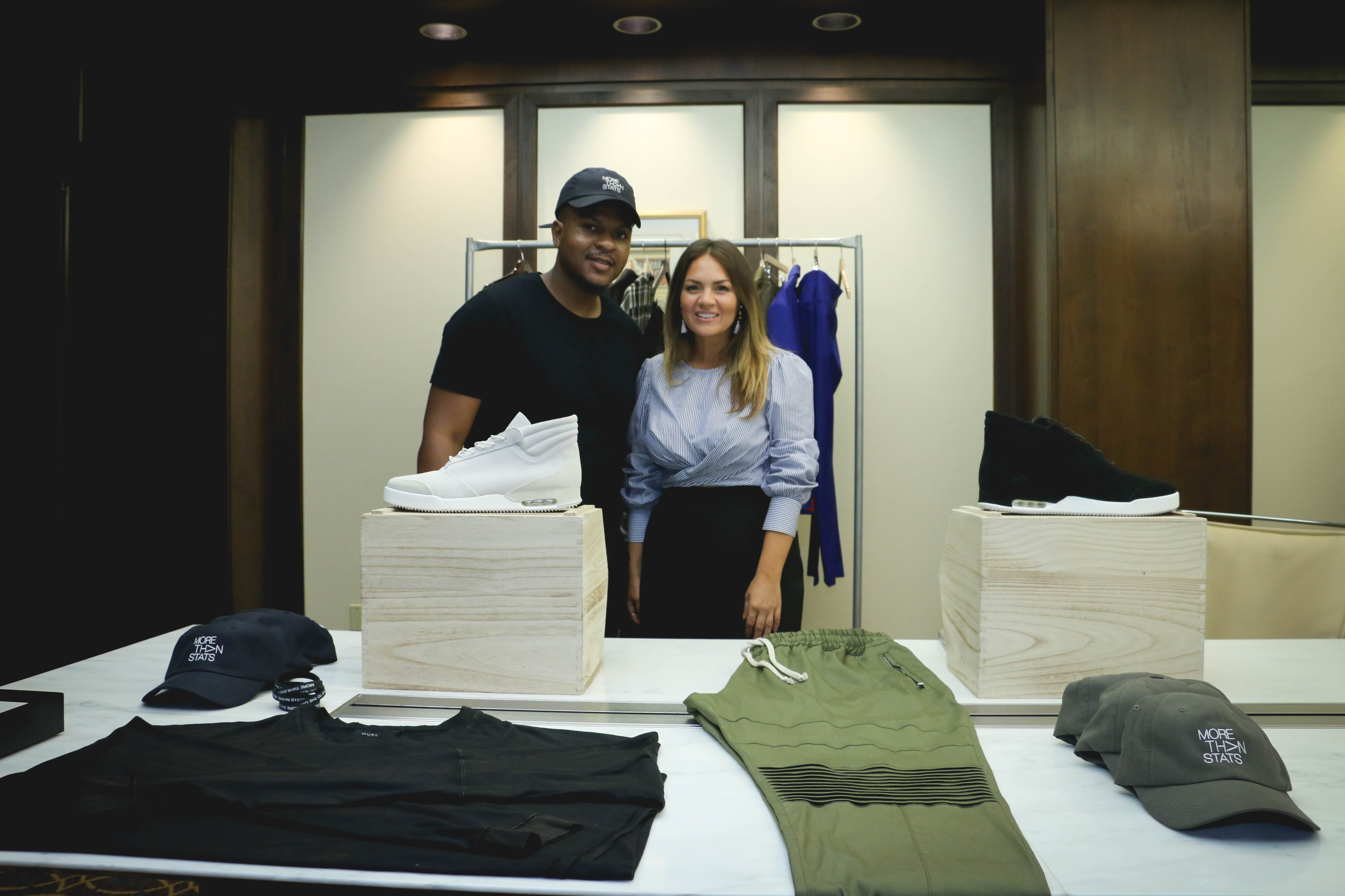 New York Giants Training camp Menswear Pop-up curated by Men's Stylist Rocio Doyle of Lucia Rocio