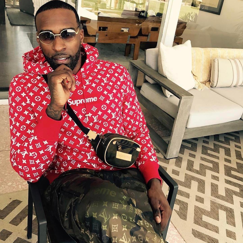 Shabazz Muhammad's Supreme Louis Vuitton Hoodie &  Jogger Pants