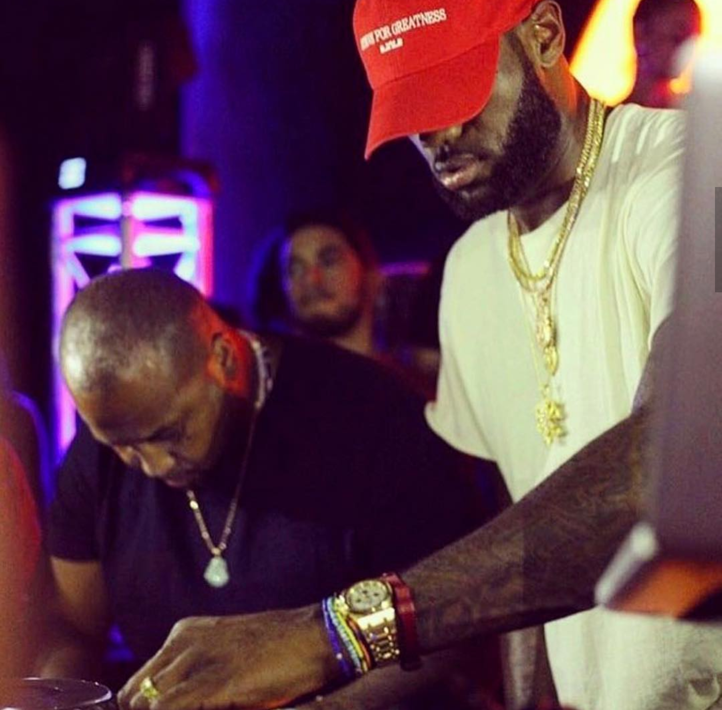 Lebron James DJ's At Miami Komodo Lounge
