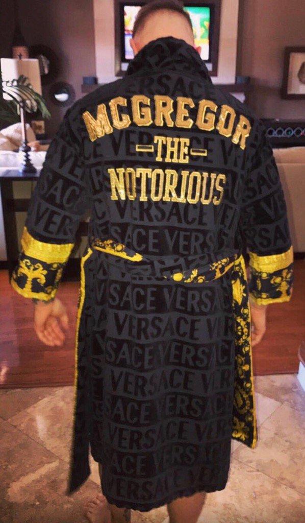 Conor Mcgregor's Instagram Versace Robe