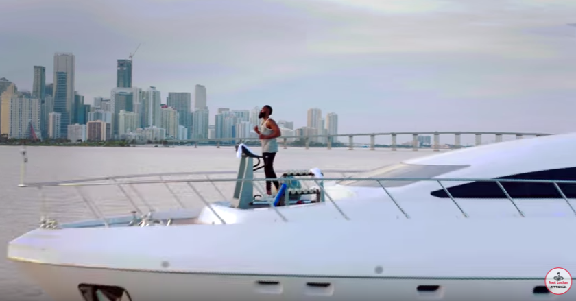 James Harden Works Out On A Yacht In New Adidas Hoops x Footlocker Spot