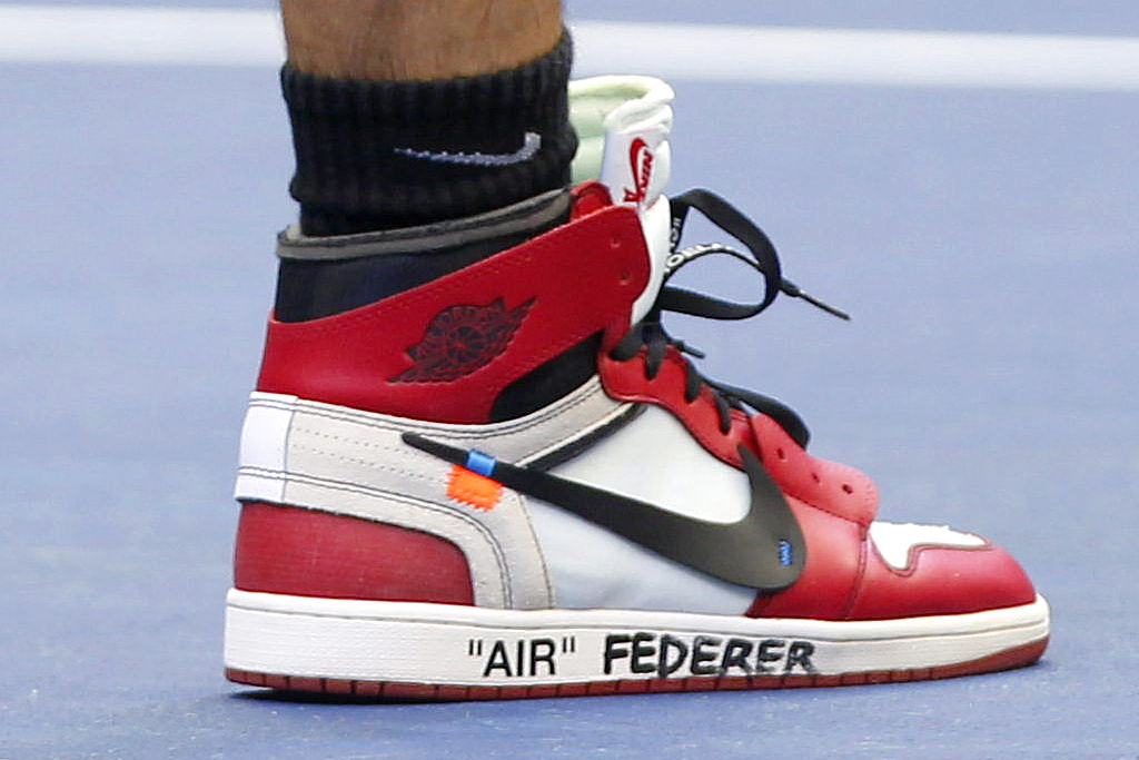 Roger Federer's US Open 2017 Off White x Air Jordan 1 Sneakers