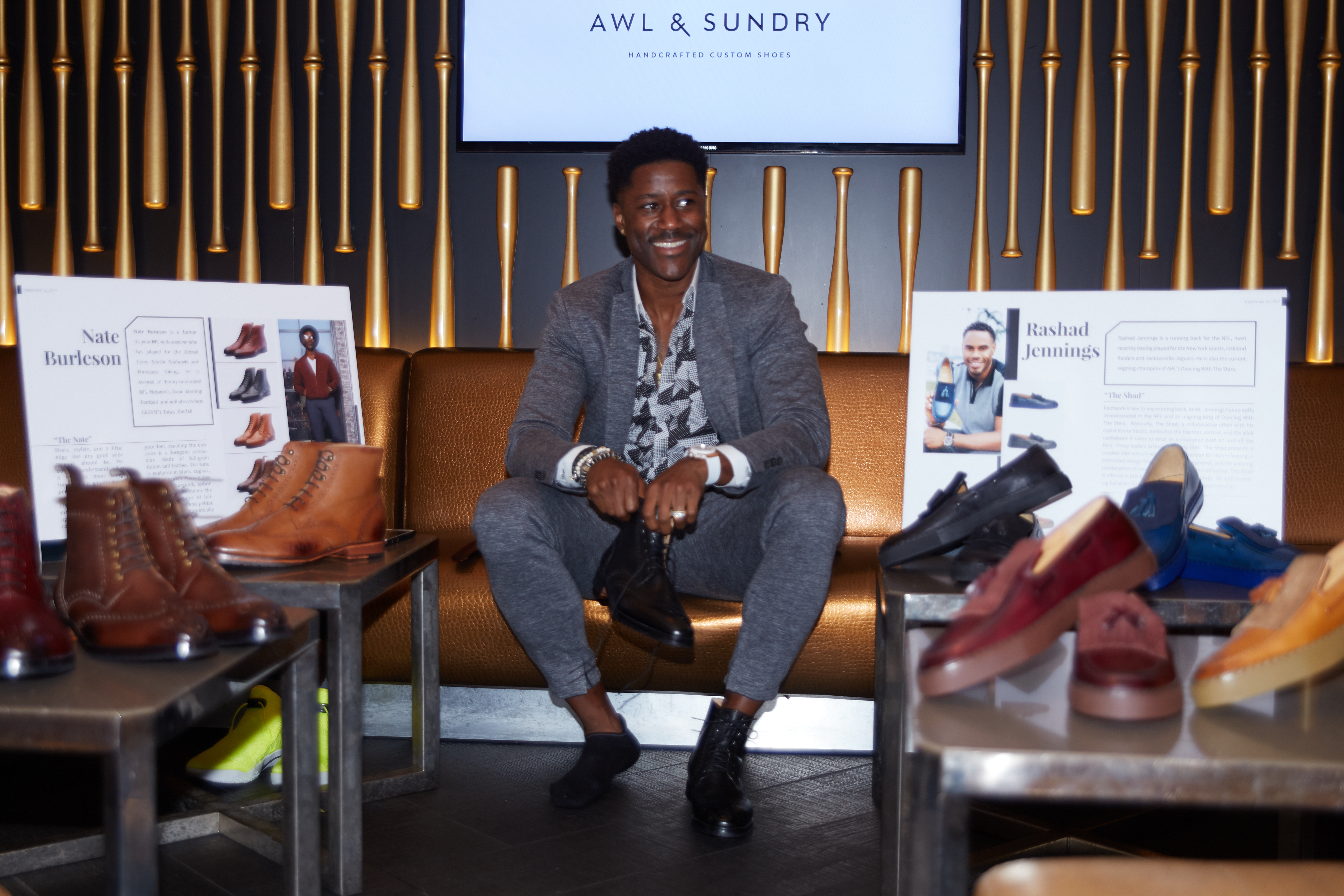NFL Stars Collaborate On Shoe Collection w/ Awl & Sundry To Benefit Children in Africa