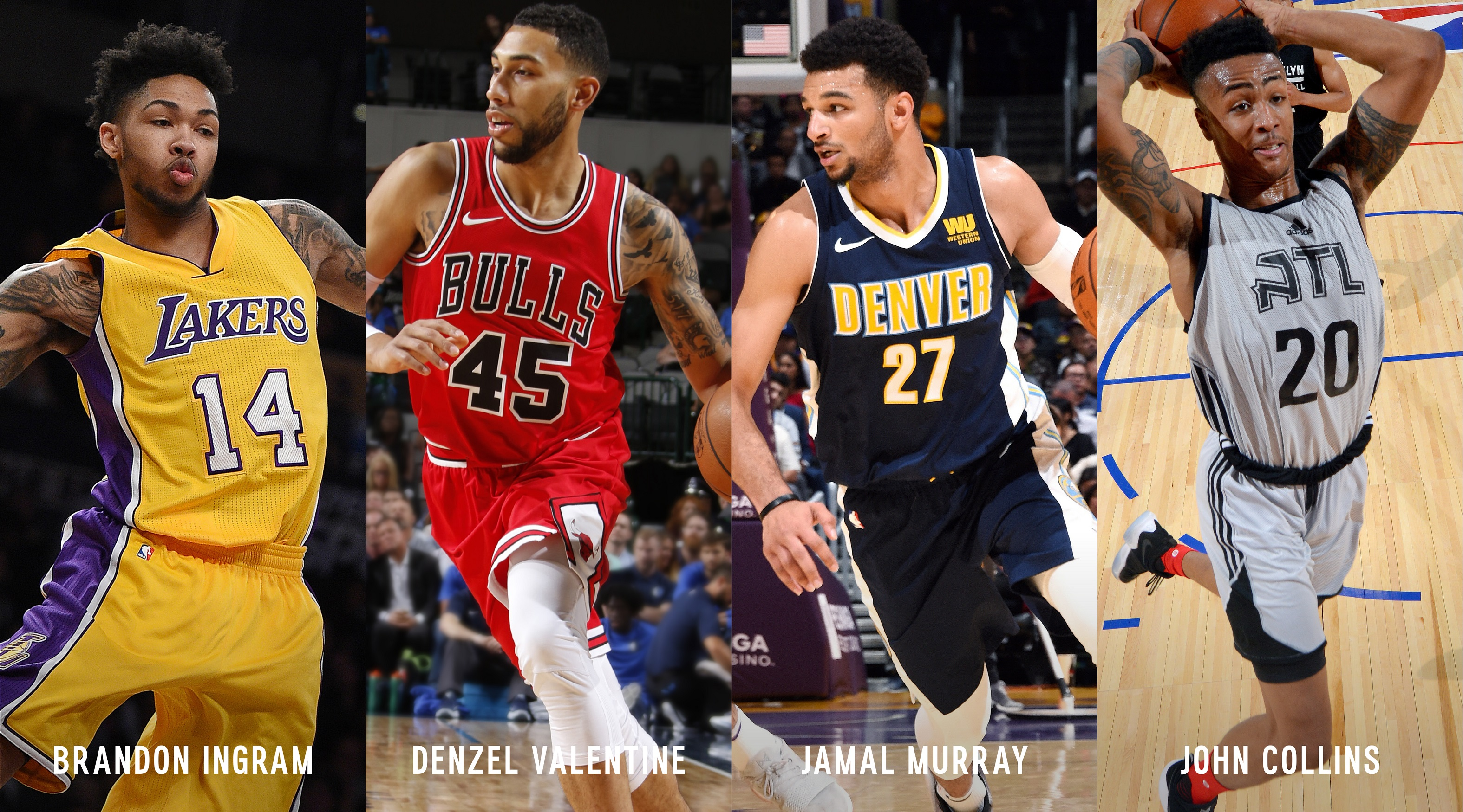 """NBA Players Star In Express Clothing's """"Game Changers"""" Campaign: Brandon Ingram, Denzel Valentine, Jamal Murray & John Collins"""
