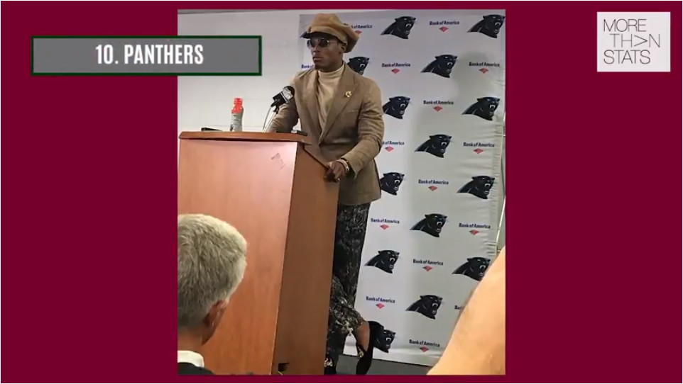 NFL FASHION Week 7: Panthers Cam Newton's Latest Outfit, Buffalo Bills Tyrod Taylor's Money Green Suit & More