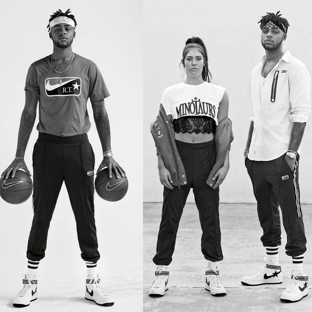 Dangelo Russell & Kelsey Plum Model New Riccardo Tisci x Nike Collection For W Magazine