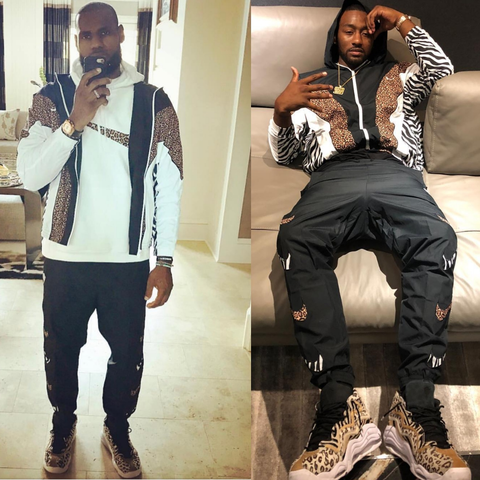 Lebron James VS. John Wall Wearing Kith x Nike Apparel