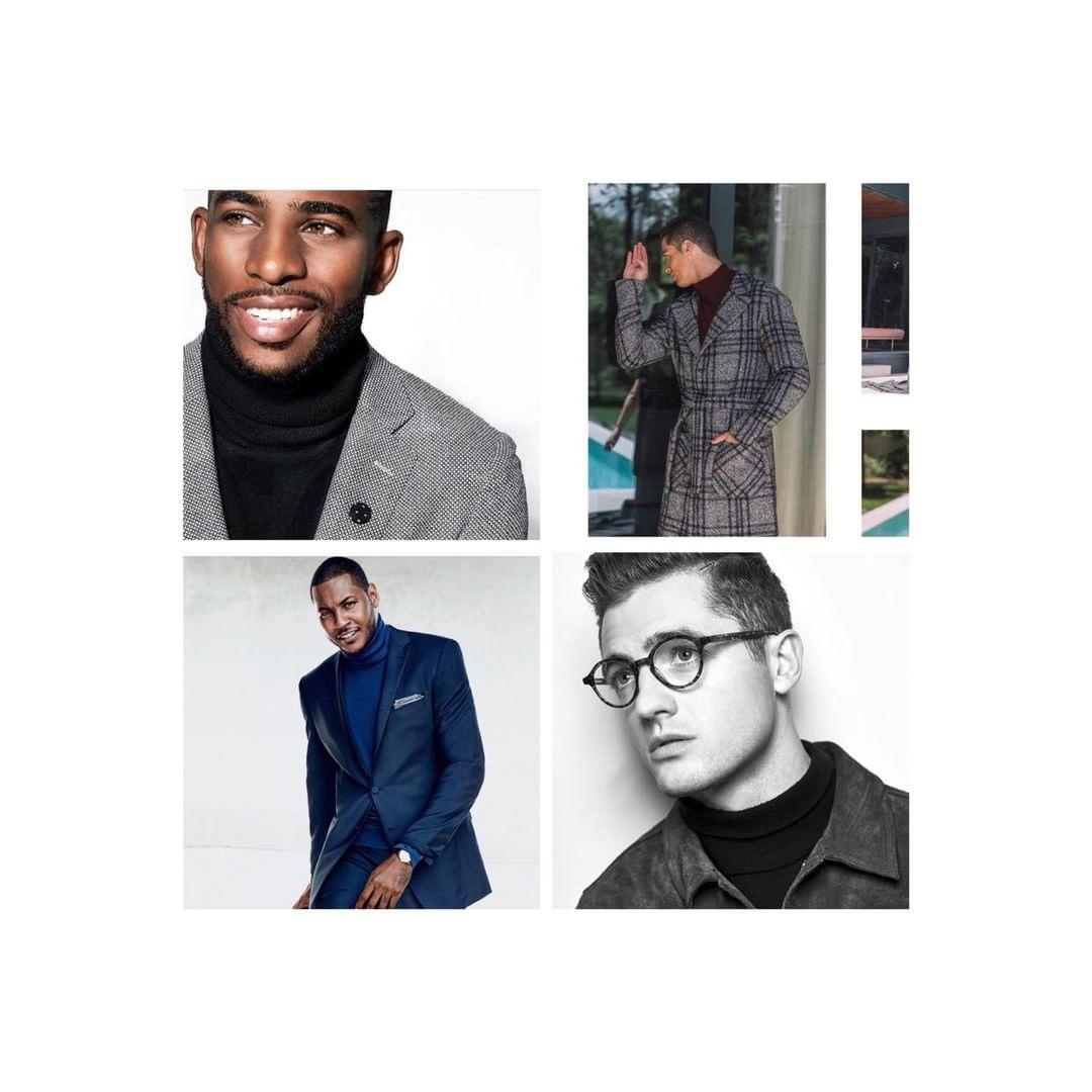 4 Turtleneck Sweaters Like Chris Paul, Carmelo Anthony, Cristiano Ronaldo, & Robbie Rogers WEAR