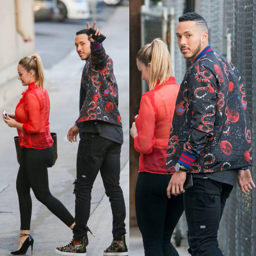 f98c42c0d2b Carlos Correa s Steve Harvey Show Gucci Space Snake Print Jacket and  Louboutin Sneakers