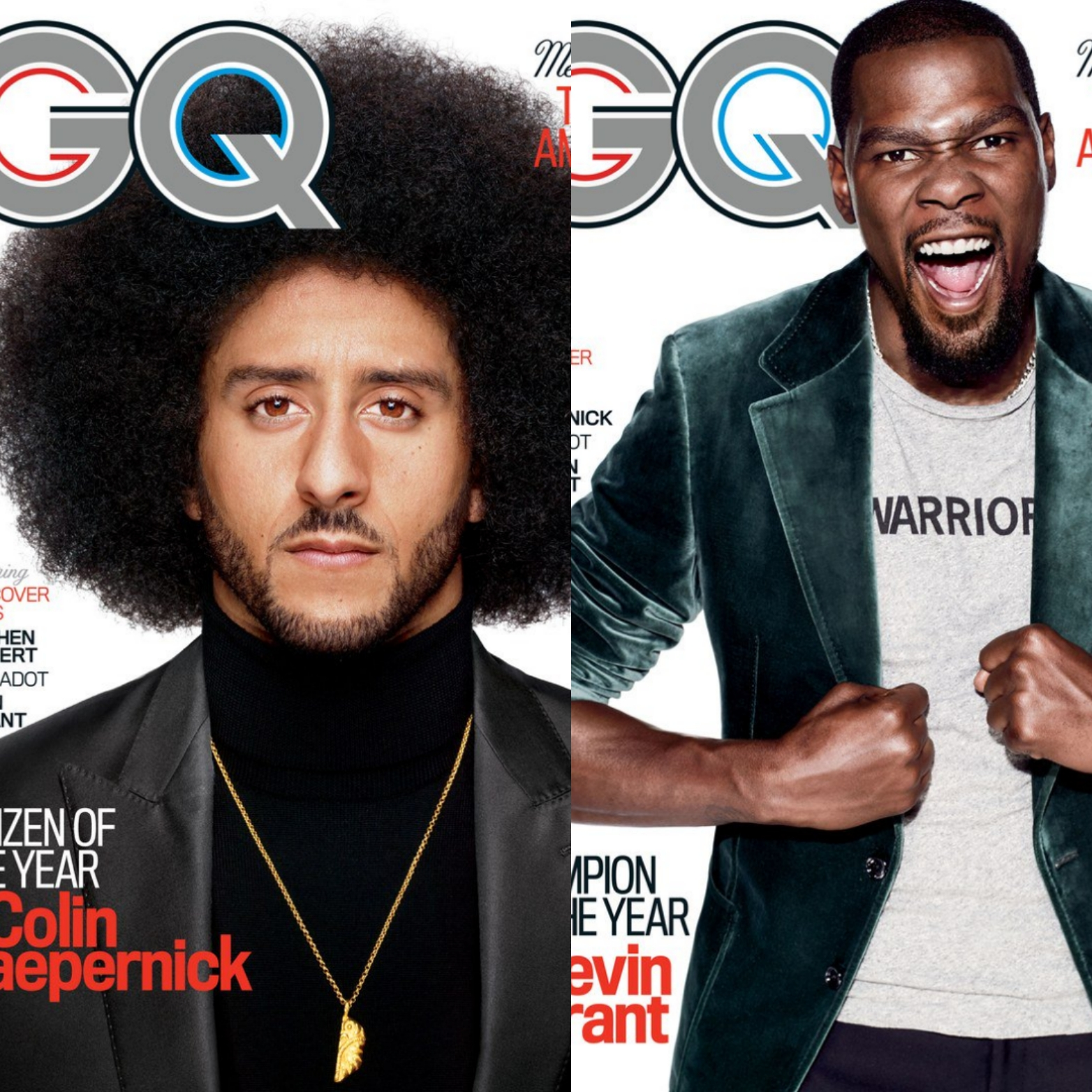 "Colin Kaepernick, Kevin Durant Named GQ ""Men Of The Year 2017"