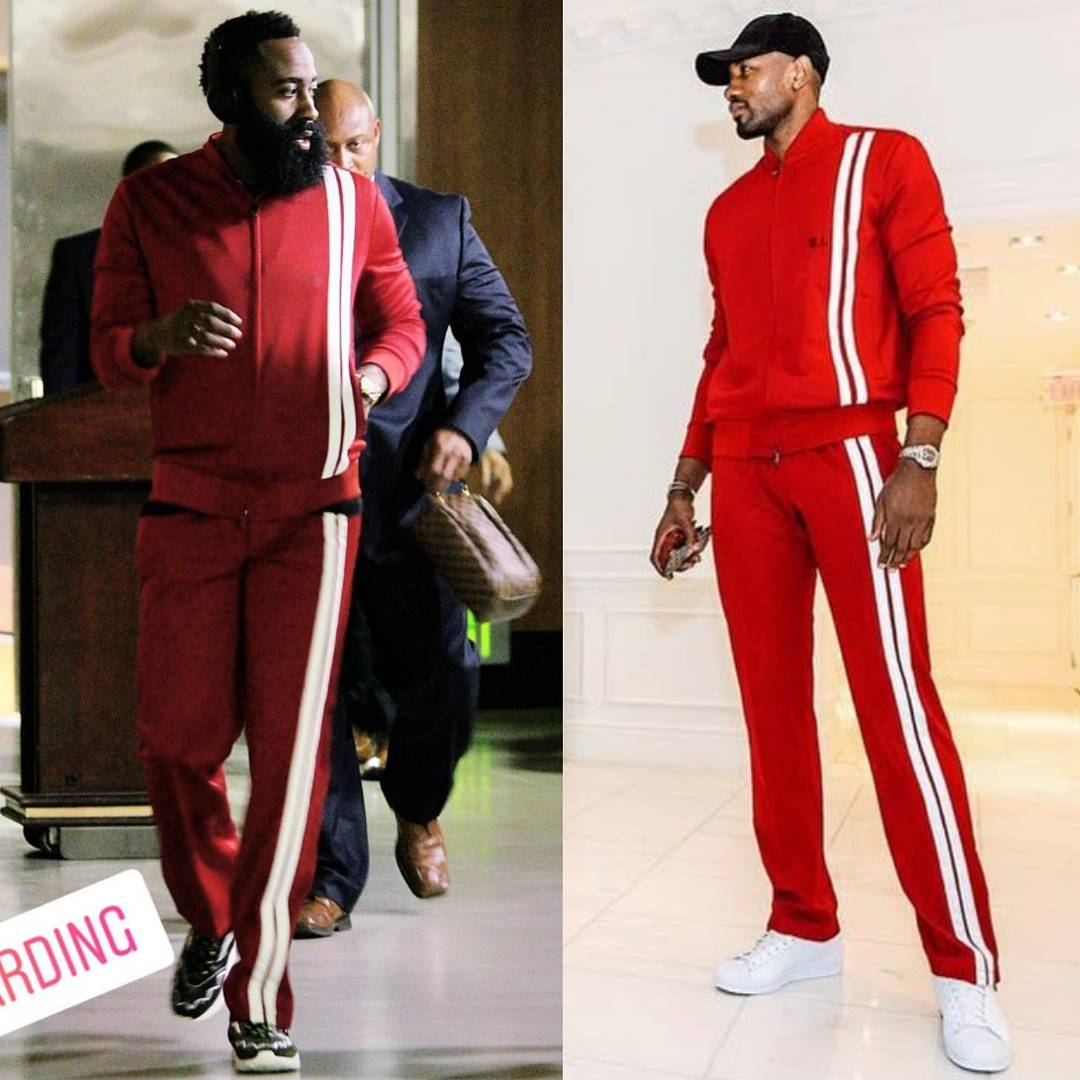 James Harden VS. Serge Ibaka's Valentino Men's Tracksuit Spring'18..WHO WORE IT BEST?