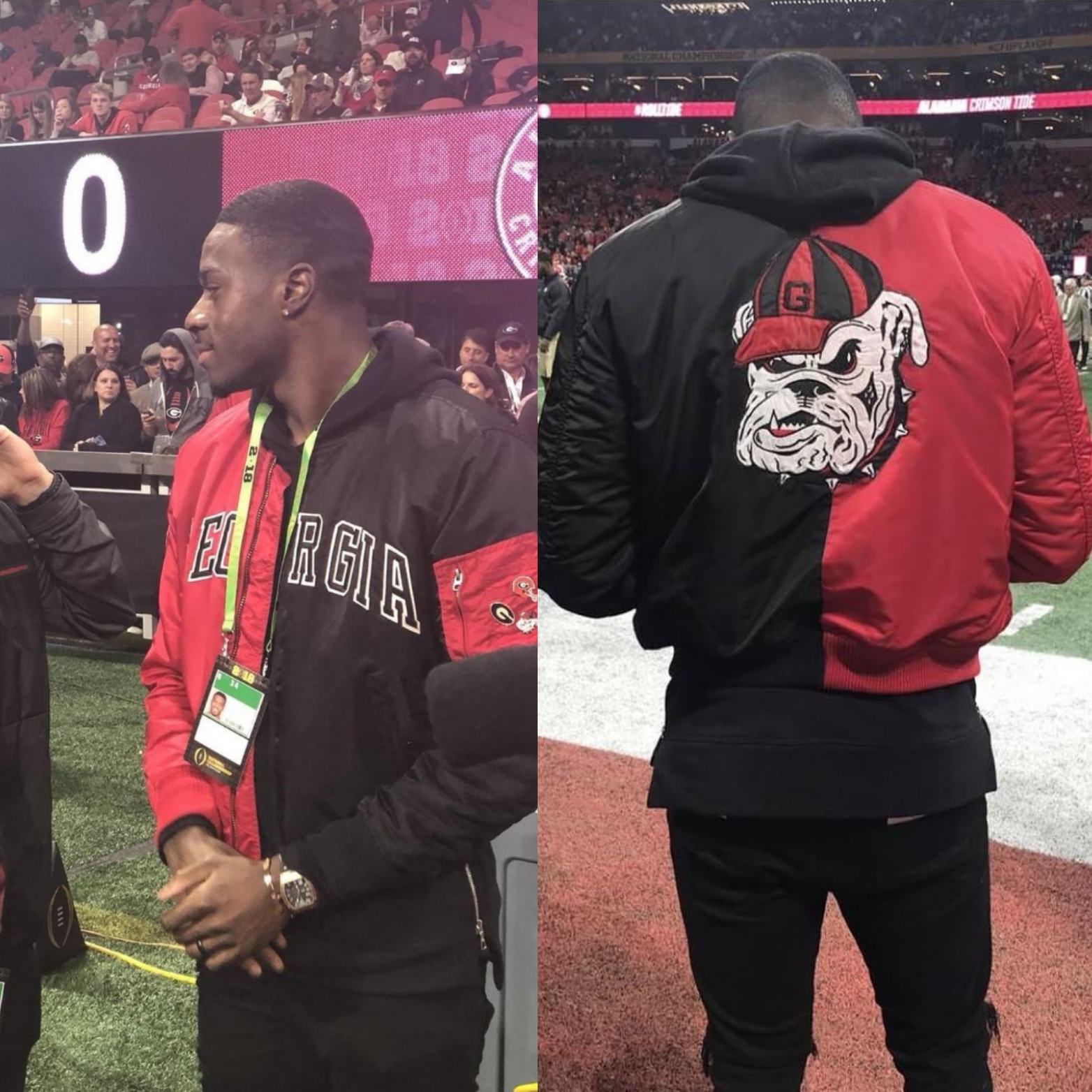 A.J. Green's Georgia Football Custom BullDogs Alpha Industries Jacket