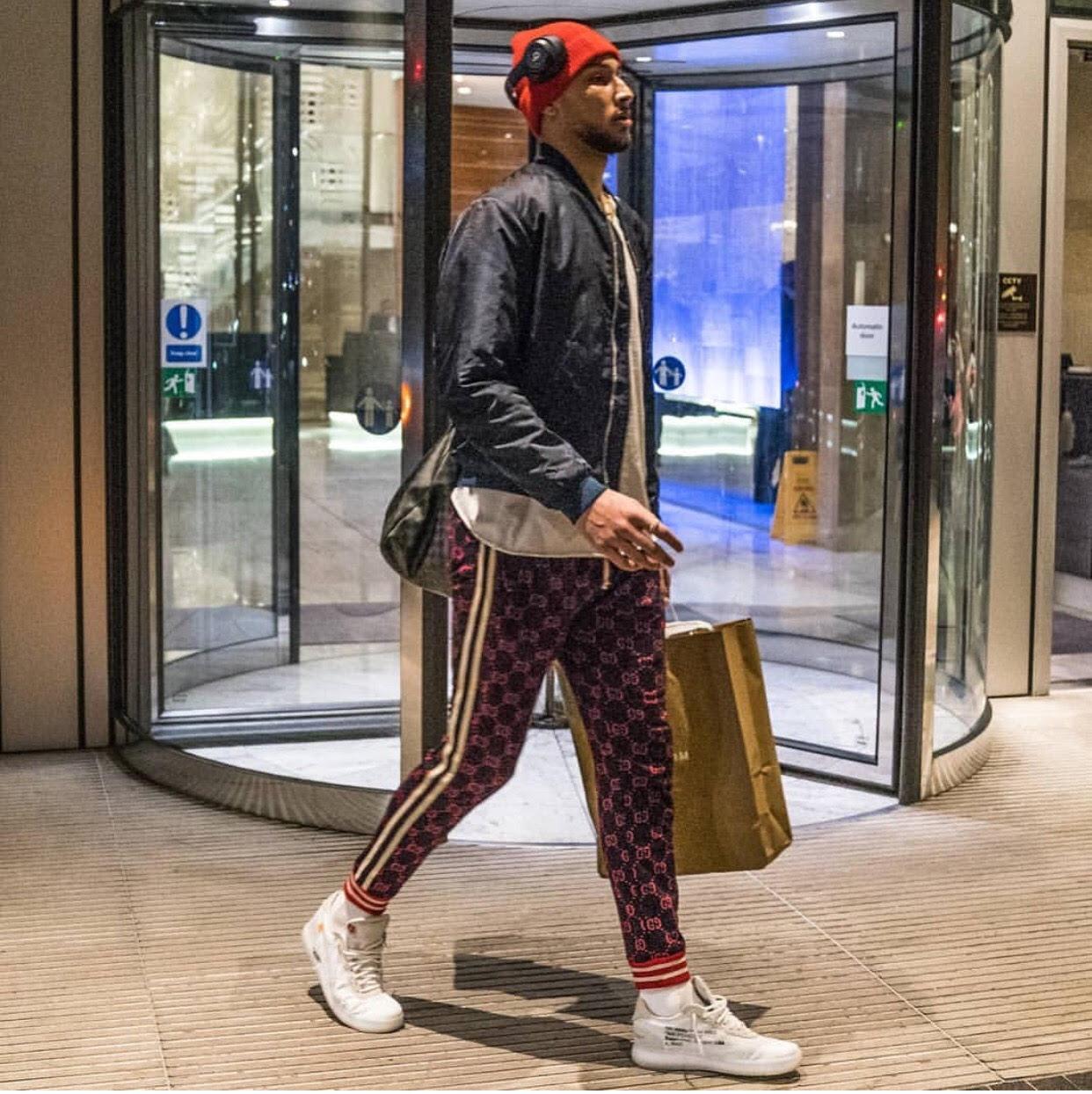 Ben Simmons' NBA London Game Gucci GG Jacquard Jogging Pant