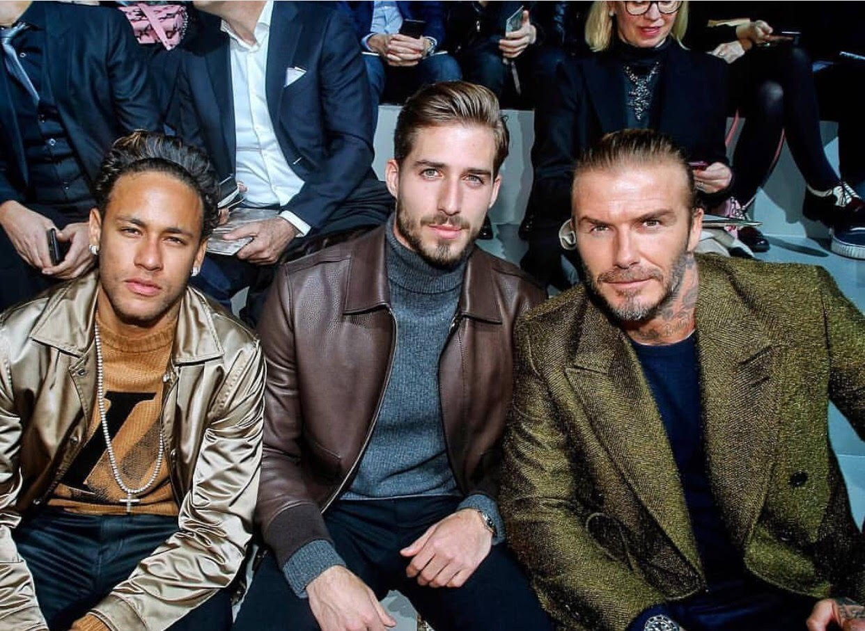 David Beckham, Neymar Jr & Kevin Trapp Attend Louis Vuitton Paris Men's Fashion Week Show FW'18