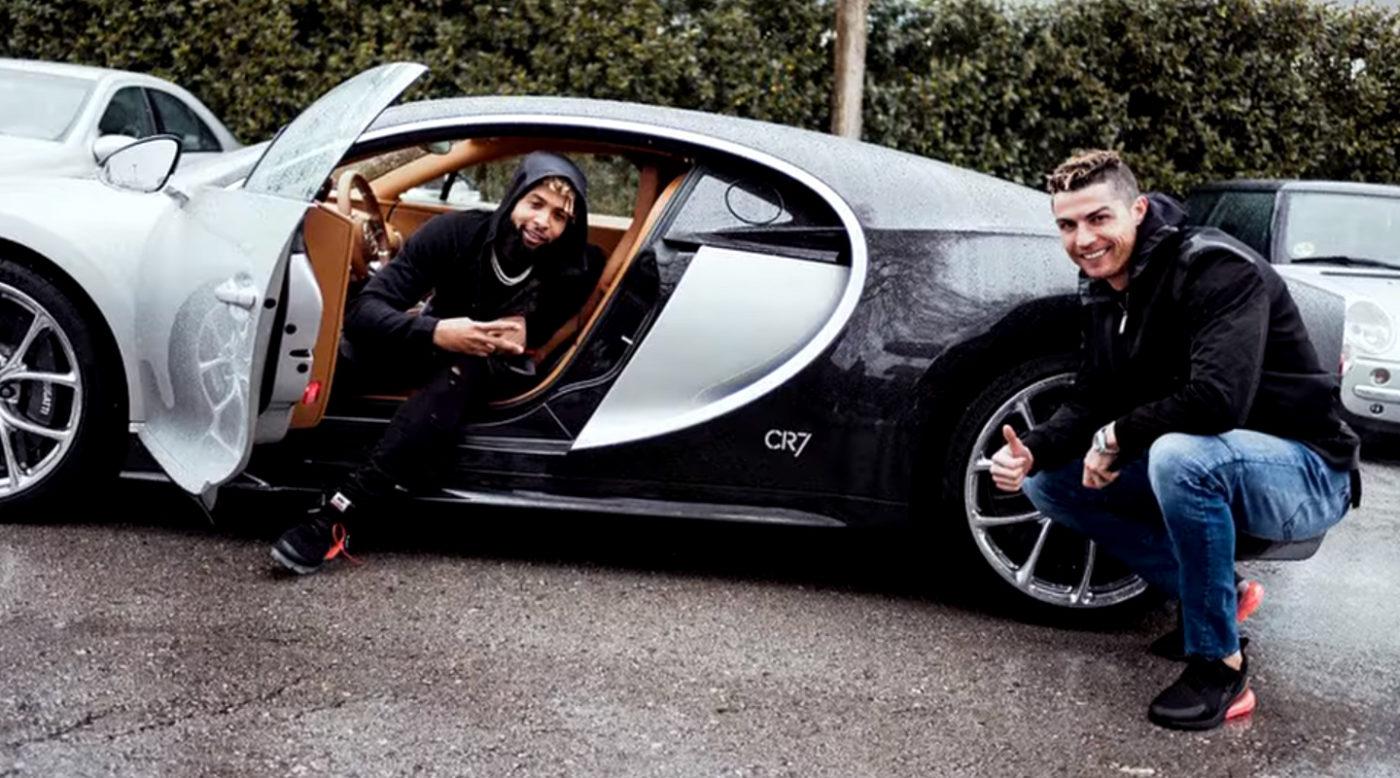Odell Beckham Jr. Woke Up In Cristiano Ronaldo's Bugatti