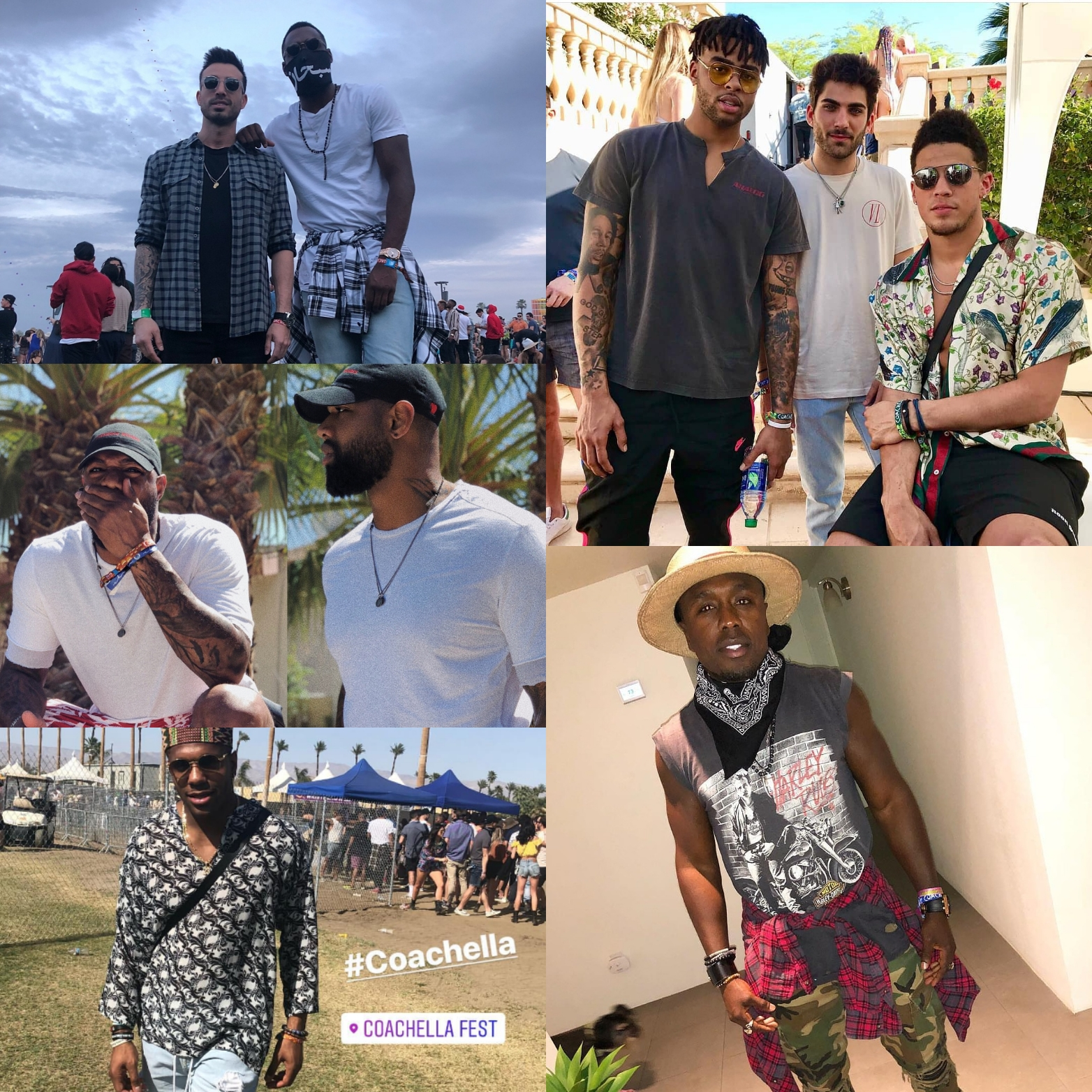 Athletes Coachella 2018 FITS: Dangelo Russell, Devin Booker, Rodney McLeod & More