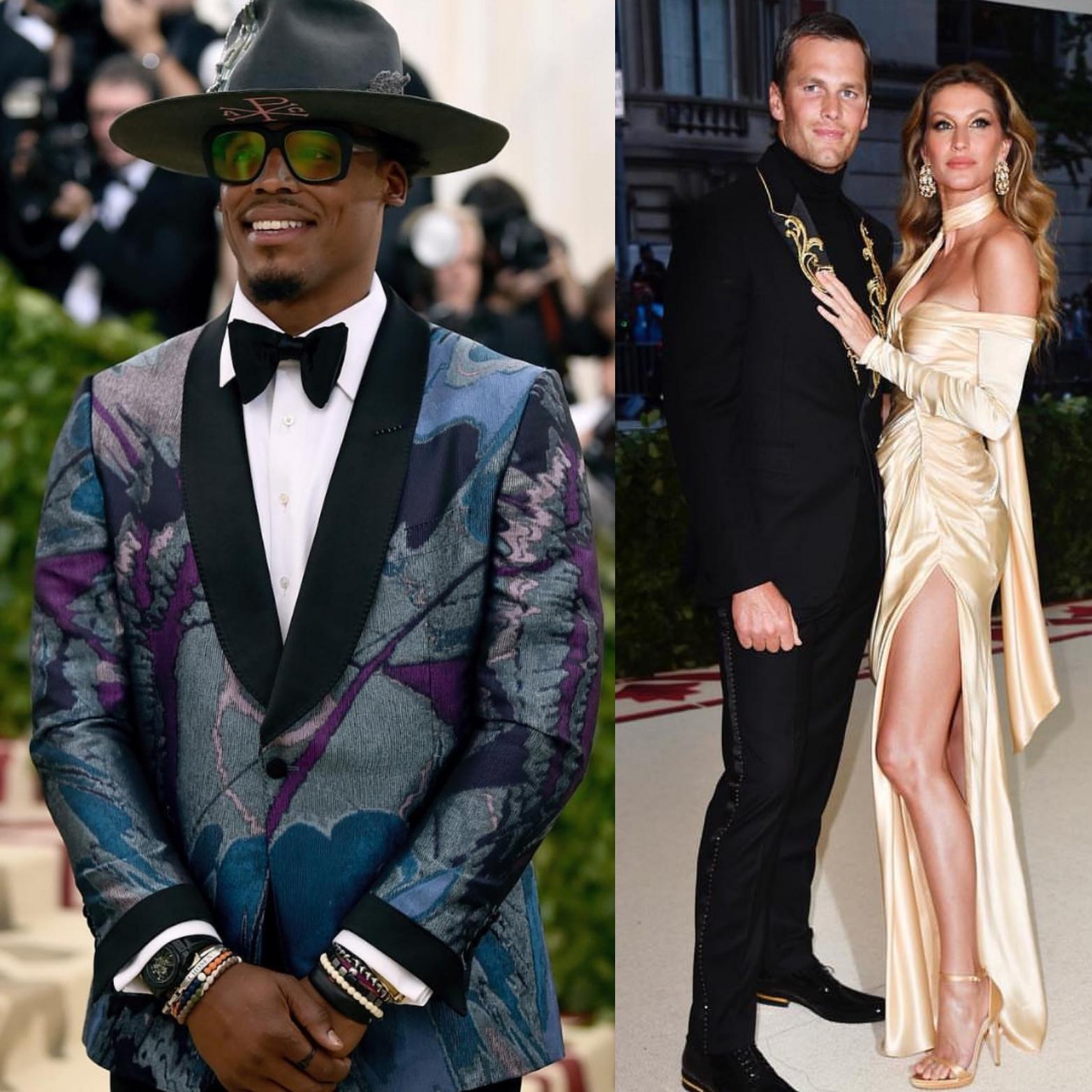 Met Gala 2018: NFL QB's Cam Newton & Tom Brady Dressed To Impress