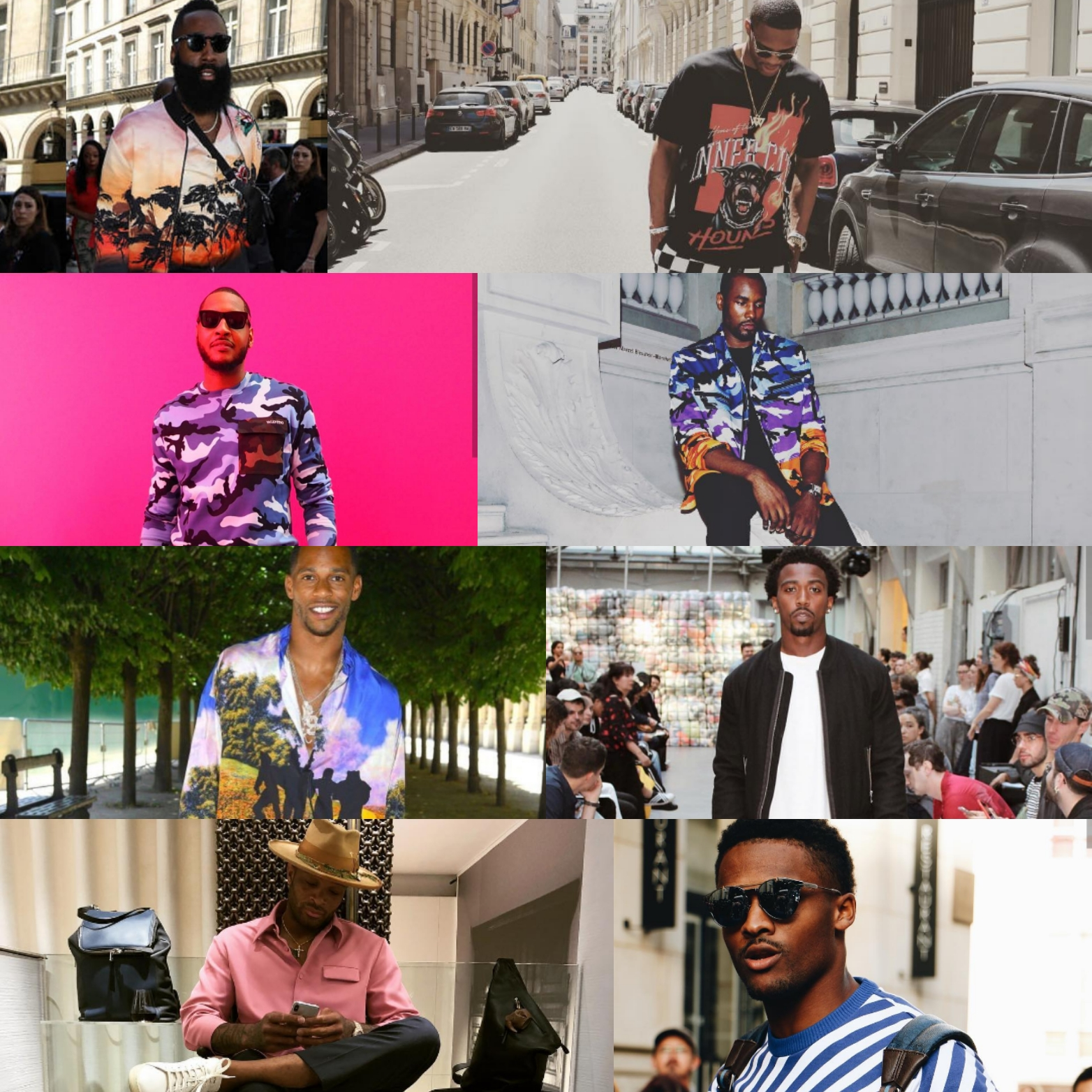 8 BEST-DRESSED ATHLETES AT PARIS FASHION WEEK: James Harden, Russell Westbrook, Carmelo Anthony & More