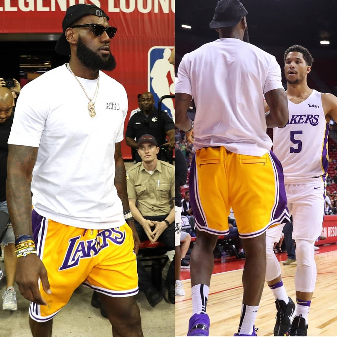 Lebron James' Lakers Shorts Will Cost You $500