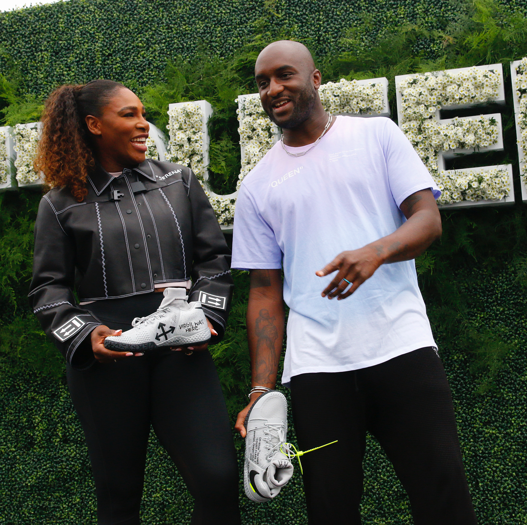 "Serena WIlliams, Virgil Abloh Talk Nike x Off White ""Queen"" U.S. Open Tennis Apparel Line."