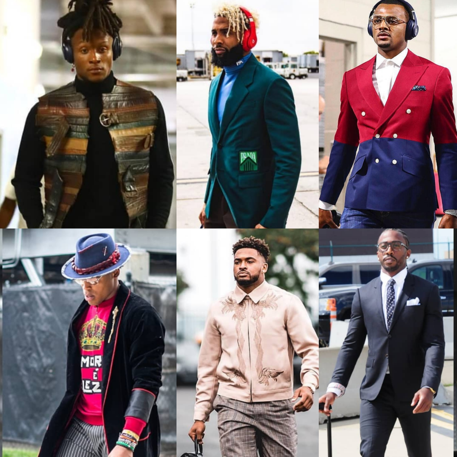 6 NFL Player's Style To Watch Right Now: Deandre Hopkins, Odell Beckham Jr, Deshaun Watson, Cam Newton, Jamal Adams & Tyrod Taylor